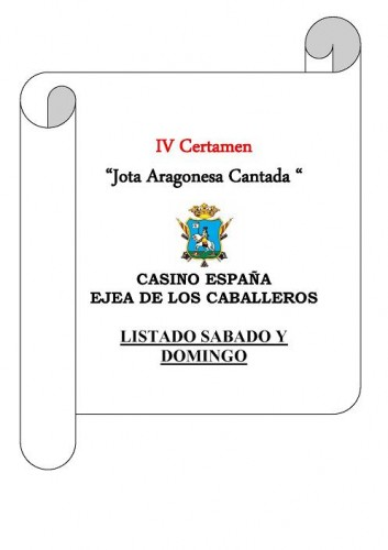 LA IV EDICIÓN DEL CERTAMEN DE JOTA ARAGONESA CASINO DE EJEA, RÉCORD DE INSCRIPCIONES Y PREMIOS