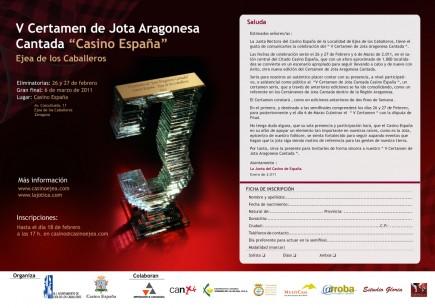 El V Certamen Casino España de Ejea será retransmitido por twitter
