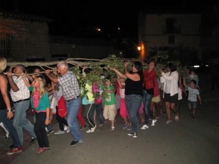 Plantada del mayo en Orés el pasado fin de semana