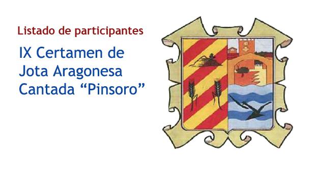 Listado de participantes en el concurso de jota de Pinsoro 2013