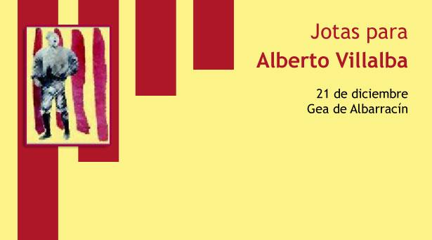 Jotas para Alberto Villalba, en Gea de Albarracín