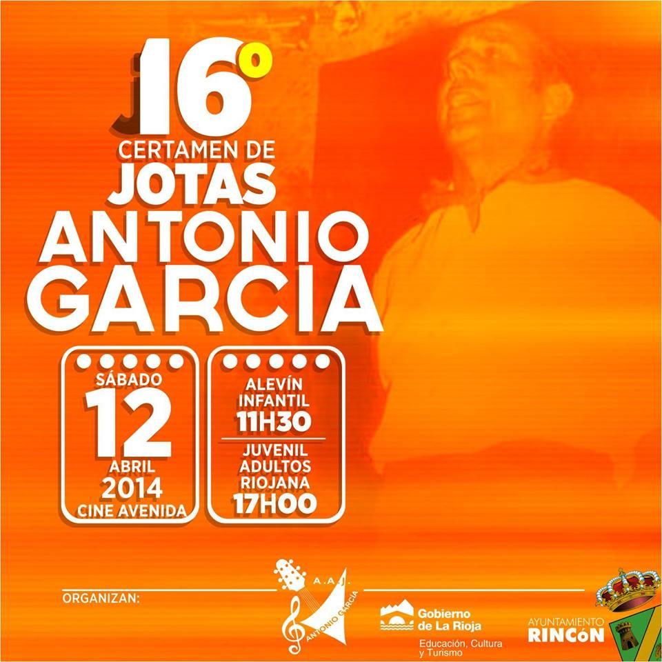 16 edición del Certamen de jotas riojana, navarra y aragonesa Antonio García de Rincón de Soto 2014