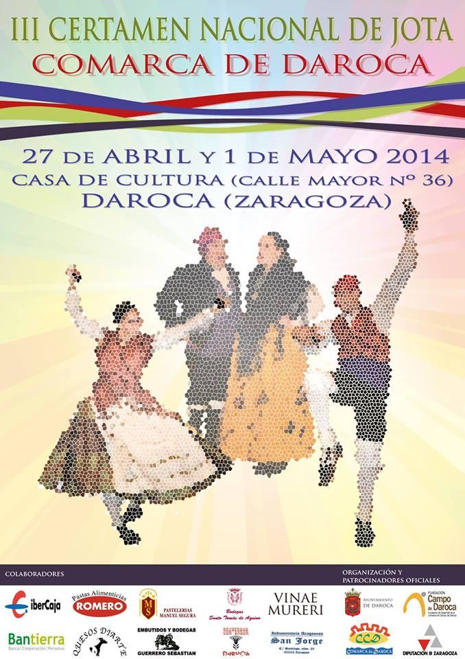 Bases del III Certamen nacional de Jota aragonesa Comarca de Daroca 2014