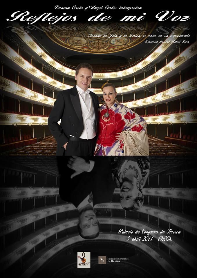 Reflejos de mi voz, se estrena en el Palacio de Congresos de Huesca, el próximo 5 de abril