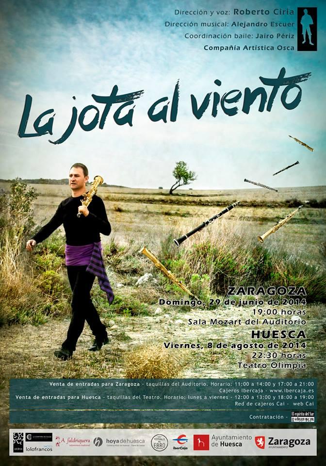 La jota al viento, el nuevo trabajo de Roberto Ciria se presenta en Zaragoza y Huesca